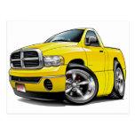 2003-09 camión del amarillo del espolón de Dodge Tarjeta Postal