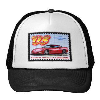 2003 50.os Corvettes del aniversario Gorra