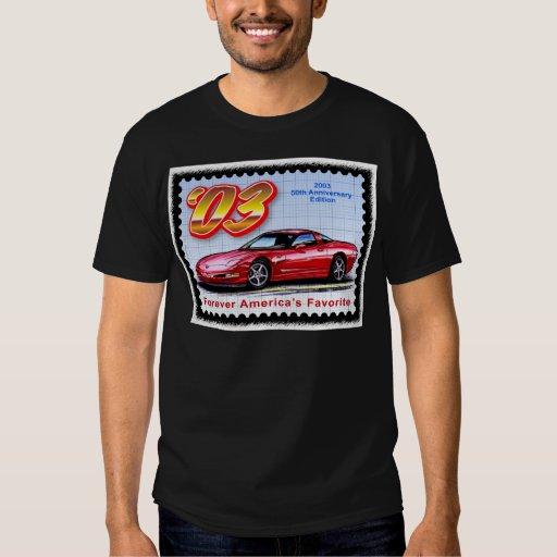 2003 50.os Corvettes del aniversario Remeras