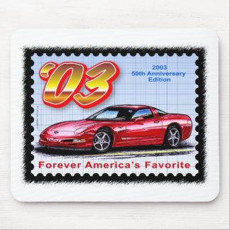 2003 50.os Corvettes del aniversario Tapetes De Raton