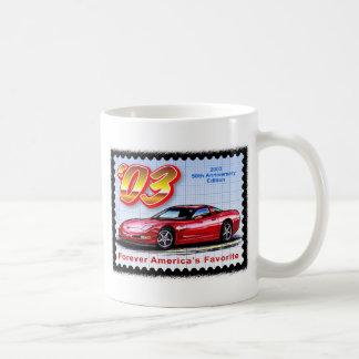 2003 50th Anniversary Corvette Classic White Coffee Mug