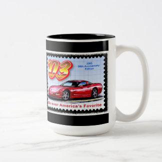 2003 50th Anniversary Corvette Two-Tone Coffee Mug