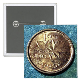 2003 Canadian Penny (Front) Button