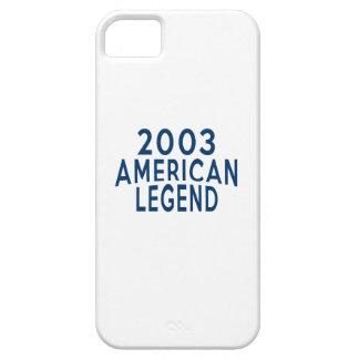 2003 diseños del cumpleaños de la leyenda del iPhone 5 carcasas
