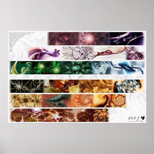 2003 fractalus Calendar Poster