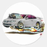 2004-06 coche del gris de GTO Pegatina Redonda