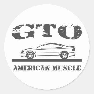 2004-06 GTO American Muscle Car Classic Round Sticker