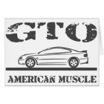 2004-06 GTO American Muscle Car Greeting Card