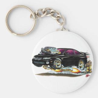 2004-06 GTO Black Car Basic Round Button Keychain