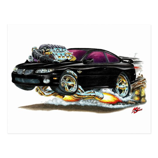 2004-06 GTO Black Car Postcard