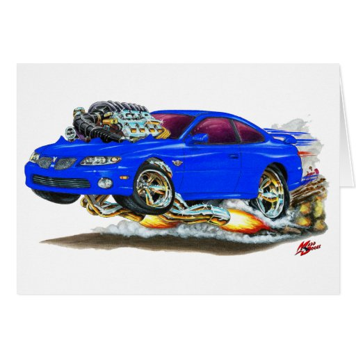 2004 06 GTO Blue Car Greeting Card Zazzle