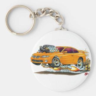 2004-06 GTO Orange Car Basic Round Button Keychain