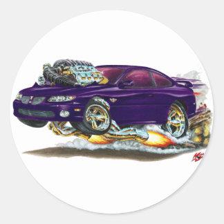 2004-06 GTO Purple Car Classic Round Sticker