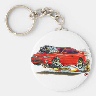 2004-06 GTO Red Car Basic Round Button Keychain