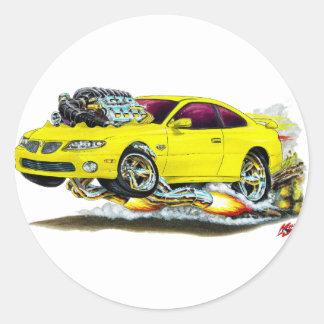 2004-06 GTO Yellow Car Classic Round Sticker