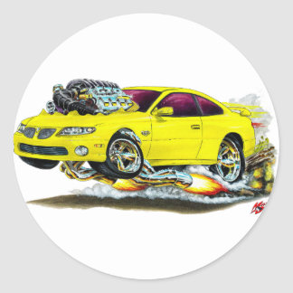 2004-06 GTO Yellow Car Round Sticker