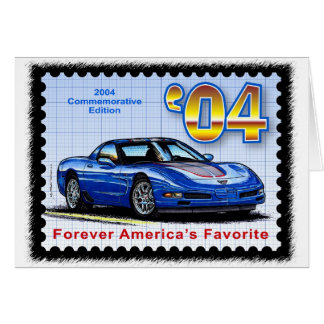 2004 Commemorative Edition Corvette Card