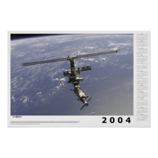 2004 International Space Station Calendar Poster