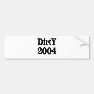 2004 sucio pegatina para auto