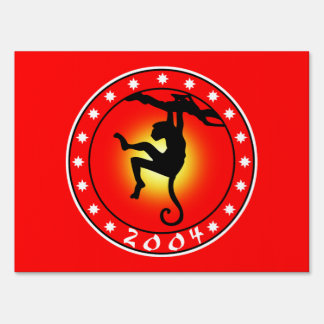 2004 Year of the Monkey Lawn Sign