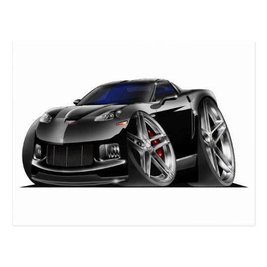 2005-09 Corvette Black Car Postcard