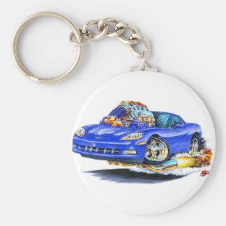 2005-10 Corvette Blue Car Keychain