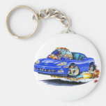 2005-10 Corvette Blue Car Keychains