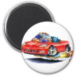 2005-10 Corvette Red Convertible Fridge Magnets