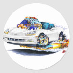 2005-10 Corvette White Car Sticker