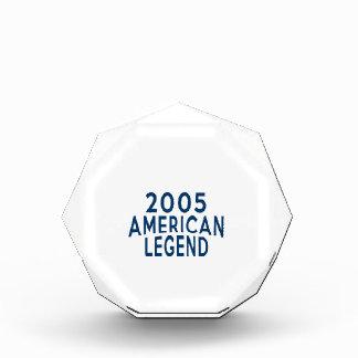 2005 American Legend Birthday Designs Acrylic Award