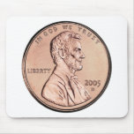 2005 Lincoln Memorial 1 cent copper coin money Mouse Pads