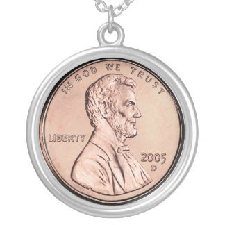 2005 Lincoln Memorial 1 cent copper coin money Jewelry