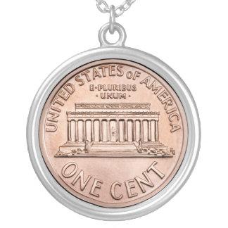 2005 Lincoln Memorial 1 cent copper coin money Pendant