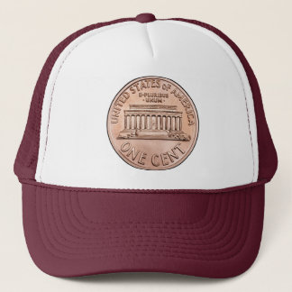 2005 Lincoln Memorial 1 cent copper coin money Trucker Hat