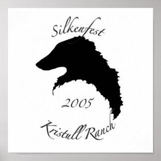 2005 Silkenfest logo poster print