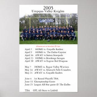 2005 Umpqua Valley Knights Poster
