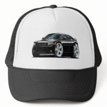 2006-10 Charger SRT8 Black Car Trucker Hat