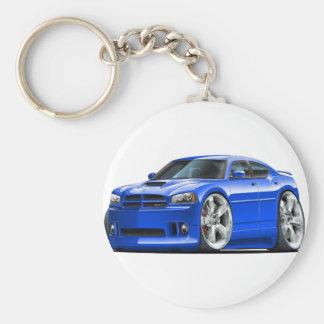2006-10 Charger SRT8 Blue Car Basic Round Button Keychain