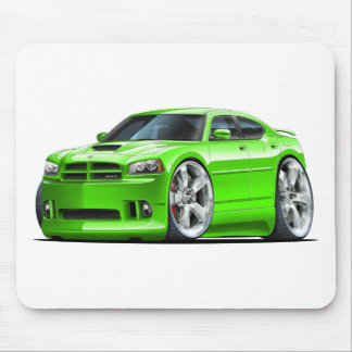 2006-10 Charger SRT8 Green Car Mouse Pad