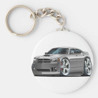 2006-10 Charger SRT8 Grey Car Basic Round Button Keychain