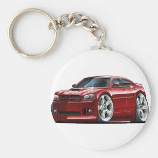 2006-10 Charger SRT8 Maroon Car Basic Round Button Keychain