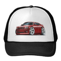 2006-10 Charger SRT8 Maroon Car Trucker Hat