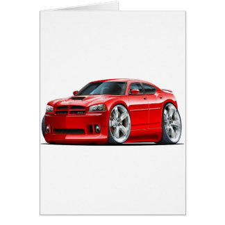 2006-10 Charger SRT8 Red Car Card