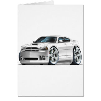 2006-10 Charger SRT8 White Car Card