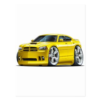 2006-10 Charger SRT8 Yellow Car Postcard