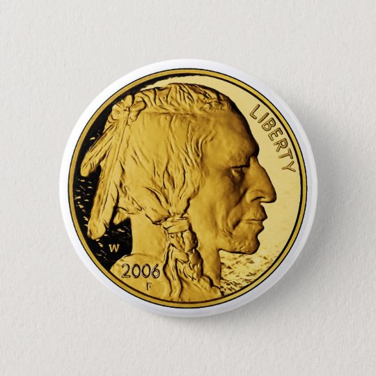 2006 American Buffalo Proof Gold Bullion Coin Button