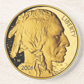 2006 American Buffalo Proof Gold Bullion Coin Beverage Coaster