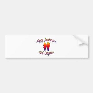 2006 Anniversary Couple Bumper Sticker