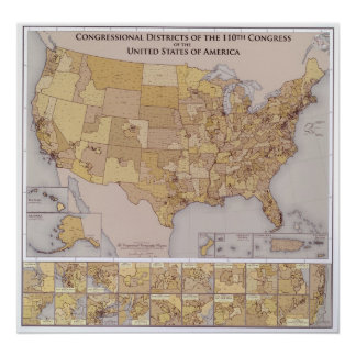 2006 Map of United States Congressional Districts Posters