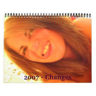 2007 - Changes Calendar